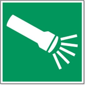 Noodverlichting Elektrisch 200x100 (sticker)