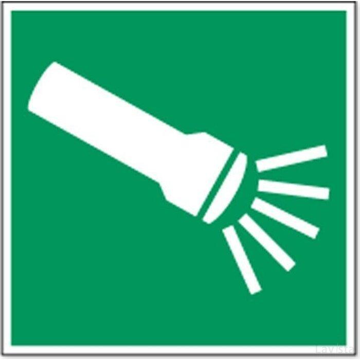 Noodverlichting Elektrisch 400x200 (sticker)