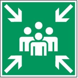Positie Van Verzamelplaats 100x100 (sticker)