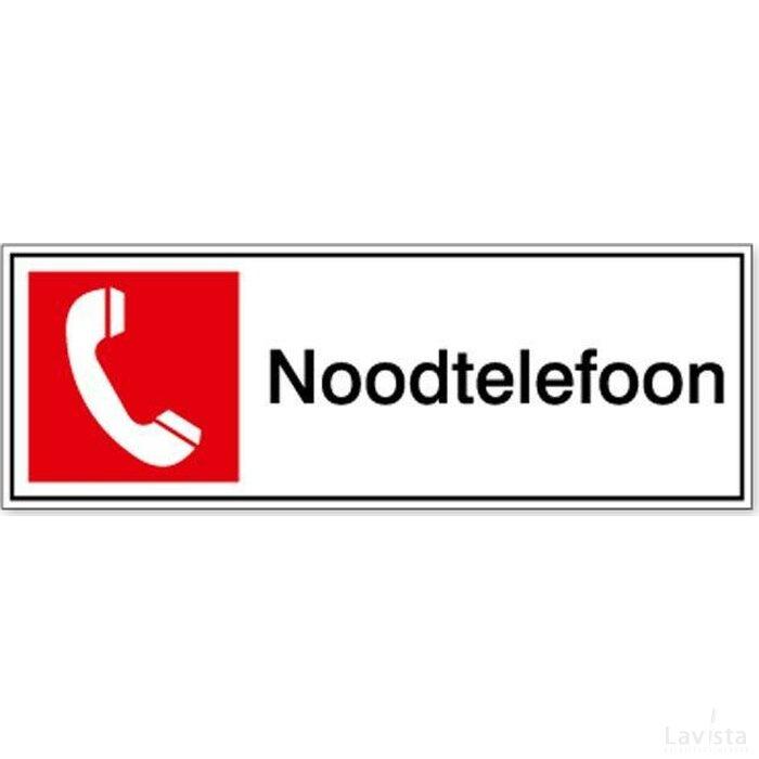 Noodtelefoon 100x100 (sticker)