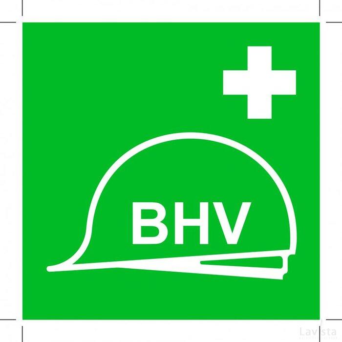 Verzameling Bhv-middelen 100x100 (sticker)