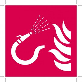 Brandslang Met Losse Straalpijp 200x200 (sticker)