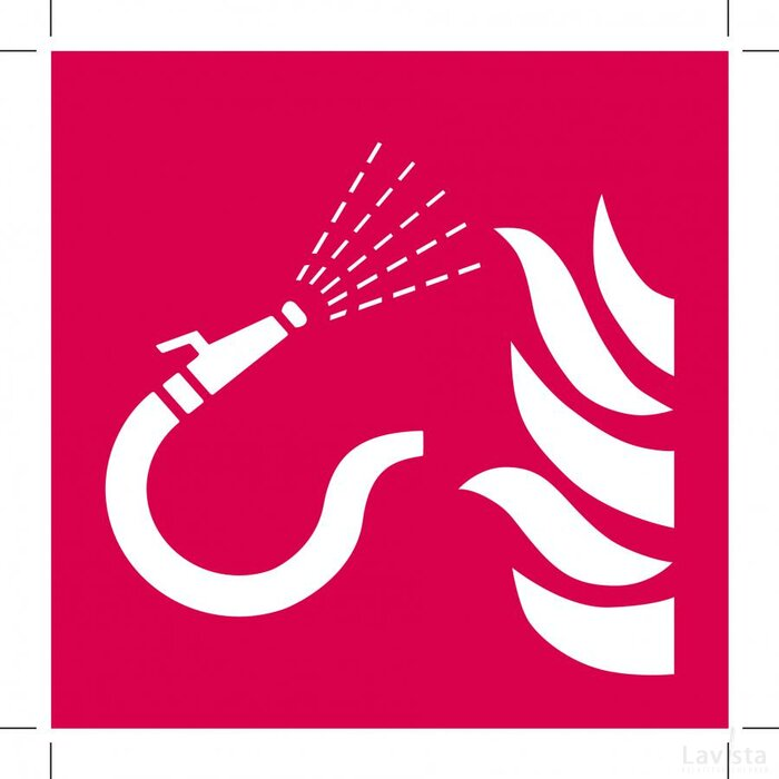 Brandslang Met Losse Straalpijp 300x300 (sticker)