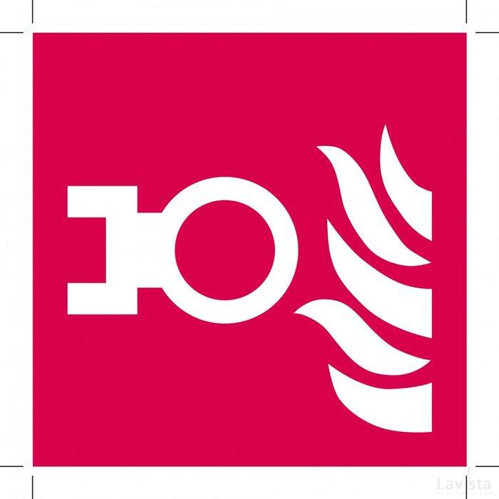 Aansluitpunt Droge Blusleiding 100x100 (sticker)