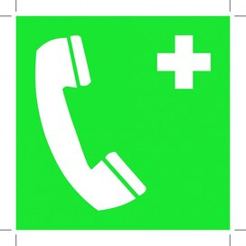 Emergency Telephone 100x100 (sticker)