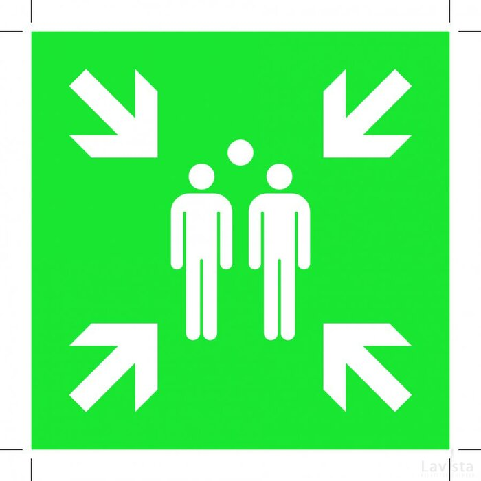 Evacuation Assembly Point 100x100 (sticker)