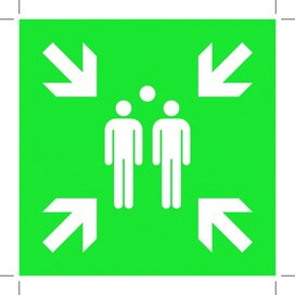 Evacuation Assembly Point 150x150 (sticker)