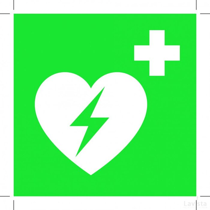 Automated External Heart Defibrillator 100x100 (sticker)