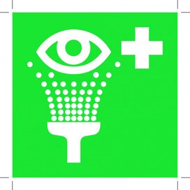Eyewash Station 100x100 (sticker)