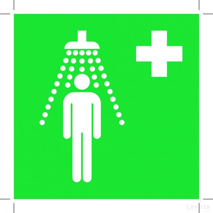 Safety Shower 500x500 (sticker)