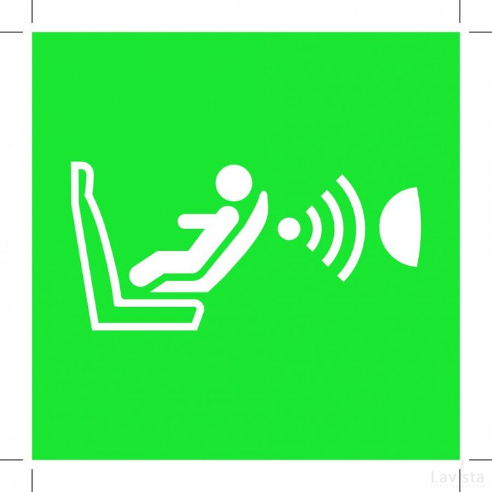 E014: Child Seat Presence And Orientation Detection System 100X100 (Cpod) (Sticker)