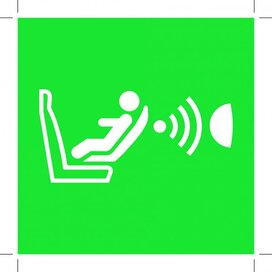E014: Child Seat Presence And Orientation Detection System 200x200 (cpod) (sticker)