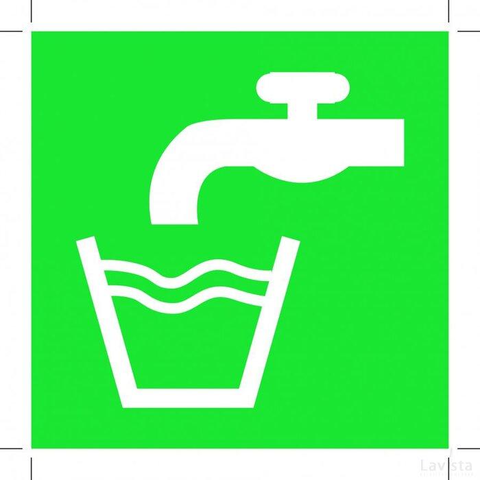 E015: Drinking Water 400x400 (sticker)