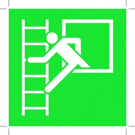 Emergency Window With Escape Ladder 100x100 (sticker)