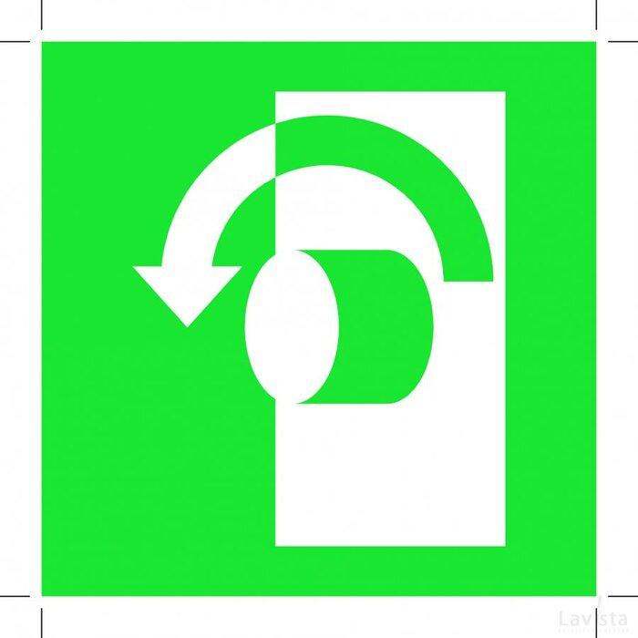 Turn Anticlockwise To Open (Sticker)