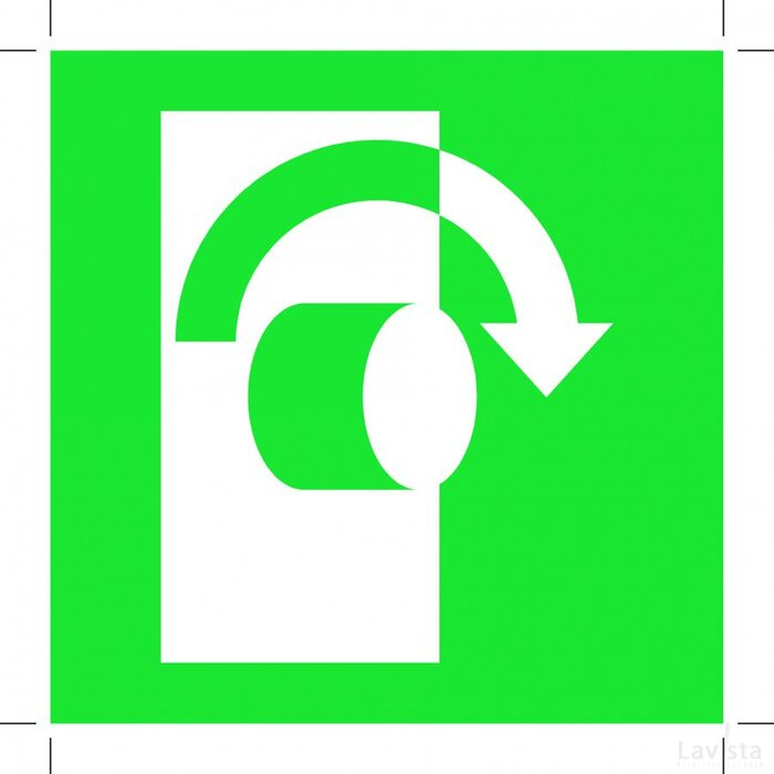 Turn Clockwise To Open 200x200 (sticker)
