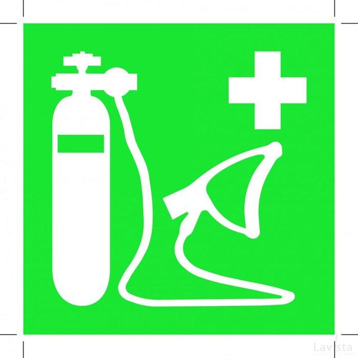 E028: Oxygen Resuscitator 100x100 (sticker)
