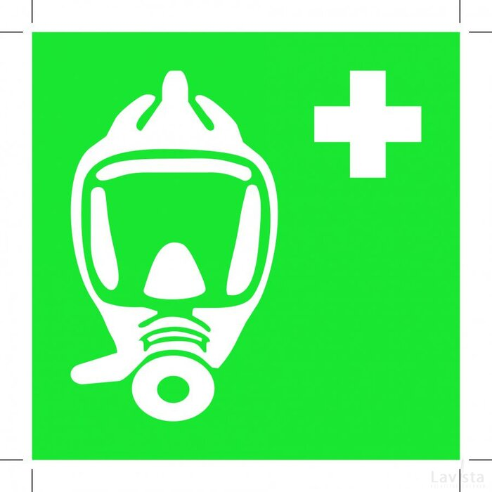 E029: Emergency Escape Breathing Device 100x100 (sticker)
