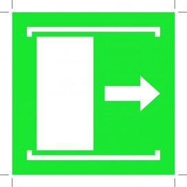 E033: Door Slides Right To Open (Sticker)