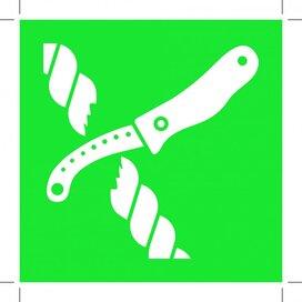 E035: Liferaft Knife 200x200 (sticker)
