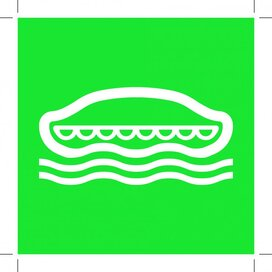 E036: Lifeboat 100x100 (sticker)