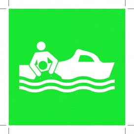 E037: Rescue Boat 100x100 (sticker)