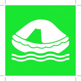 E038: Liferaft 100x100 (sticker)