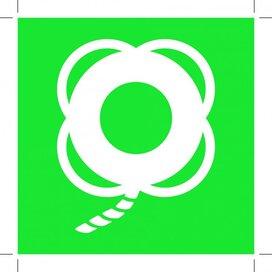 E041: Lifebuoy With Line (Sticker)