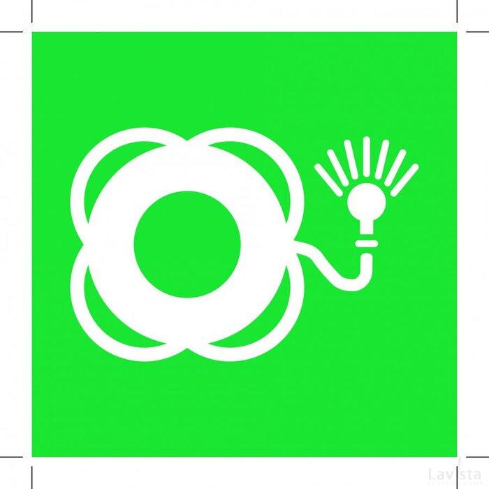 E042: Lifebuoy With Light 200x200 (sticker)