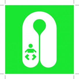 E046: Infant's Lifejacket 100x100 (sticker)