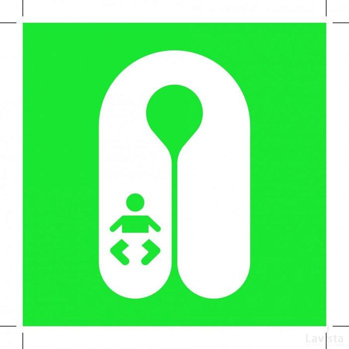 E046: Infant's Lifejacket 100x100 (sticker)
