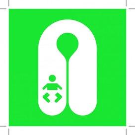 E046: Infant's Lifejacket 150x150 (sticker)