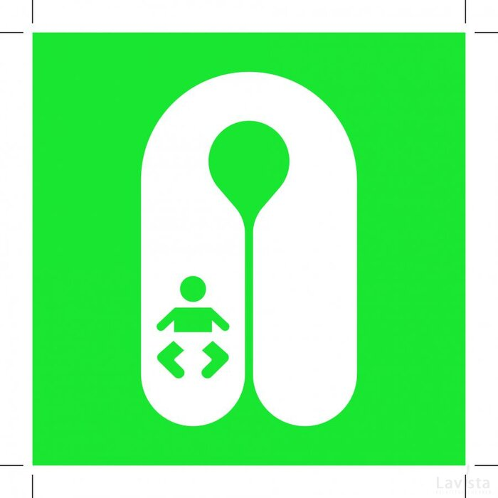 E046: Infant's Lifejacket 150x150 (sticker)