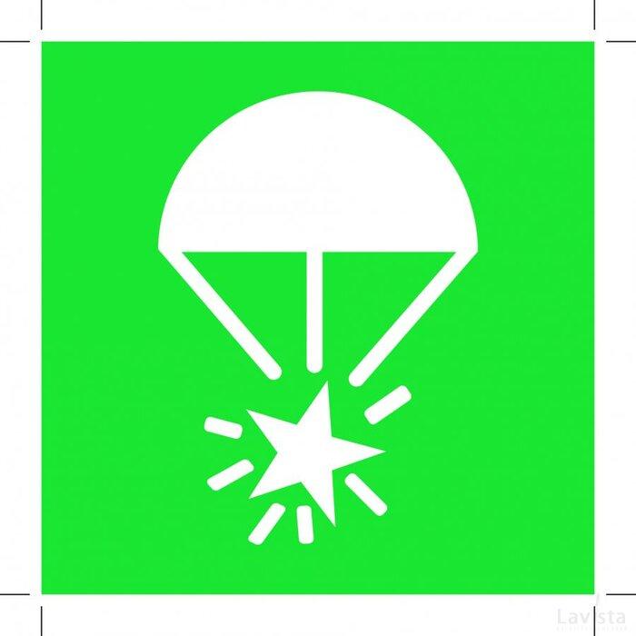 E049: Rocket Parachute Flare 400x400 (sticker)