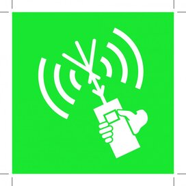 E051: Two-way Vhf Radiotelephone Apparatus 400x400 (sticker)