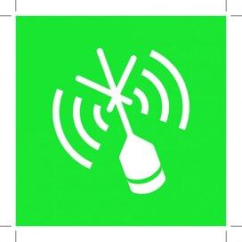 E052: Emergency Position Indicating Radio Beacon 200x200 (sticker)