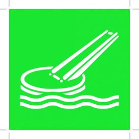E054: Marine Evacuation Slide 300x300 (sticker)