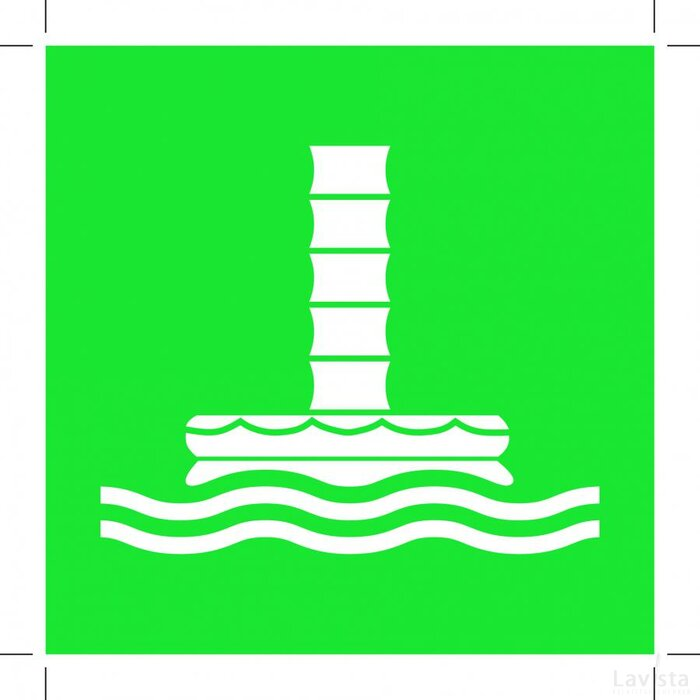 E055: Marine Evacuation Chute 100x100 (sticker)