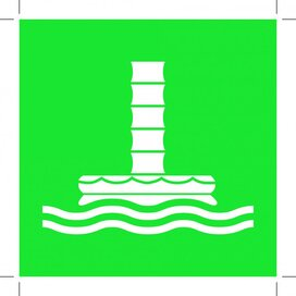 E055: Marine Evacuation Chute 200x200 (sticker)