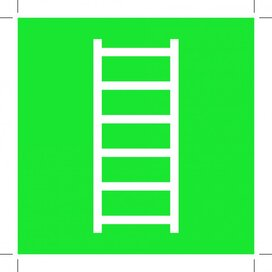 E059: Escape Ladder 100x100 (sticker)