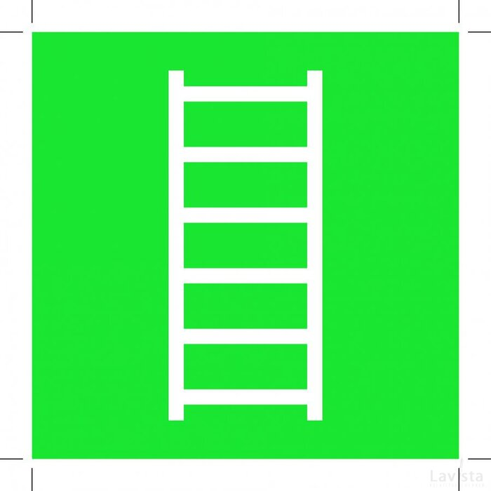 E059: Escape Ladder 500x500 (sticker)
