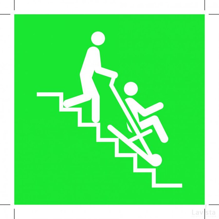 E060: Evacuation Chair 100x100 (sticker)