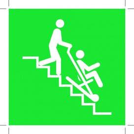 E060: Evacuation Chair 150x150 (sticker)