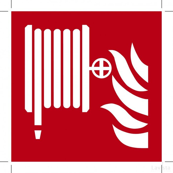 Fire Hose Reel 100x100 (sticker)