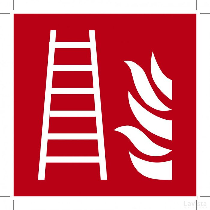 Fire Ladder 100x100 (sticker)