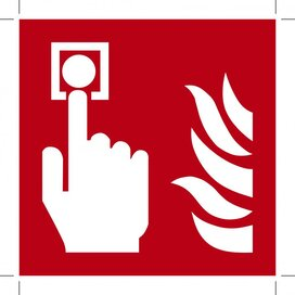 Fire Alarm Call Point 200x200 (sticker)