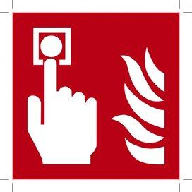 Fire Alarm Call Point 200x200 (sticker)