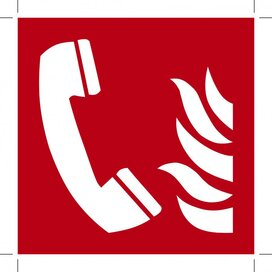 Fire Emergency Telephone 100x100 (sticker)