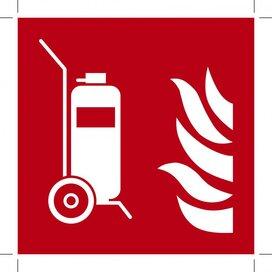 F009: Wheeled Fire Extinguisher (Sticker)