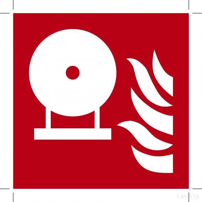 F013: Fixed Fire Extinguishing Bottle 100x100 (sticker)